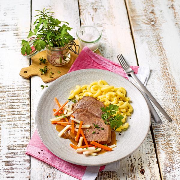 Menü a la Carte Rinderbraten Eserhazy